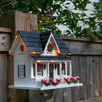 Outdoor Christmas Birdhouse with Lights