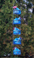 Parasol Lunch Pail Hummingbird Feeder, Tall, Blue, 17.5 oz. - World of Birdhouses