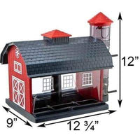 Heritage Farms Red Barn Bird Feeder🚛