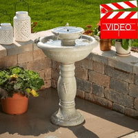 Smart Solar Country Gardens 2-Tier Solar-on Demand Fountain