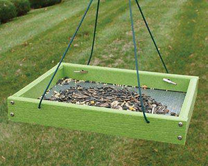 Woodlink Going Green Hanging Platform Bird Feeder, Green♻️ - World of Birdhouses