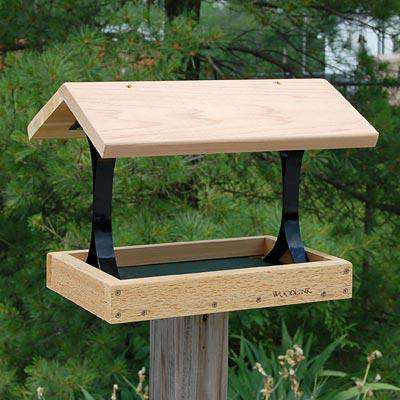 Woodlink Fly Thru Platform Bird Feeder - World of Birdhouses