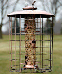 Haning Caged Tube Bird Feeder