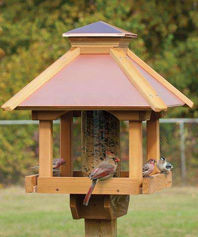 Woodlink Large Coppertop Gazebo Bird Feeder🚛 - World of Birdhouses
