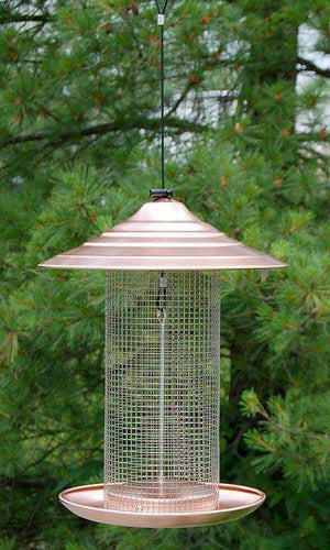 Woodlink Brushed Copper Sunflower Bird Feeder - World of Birdhouses