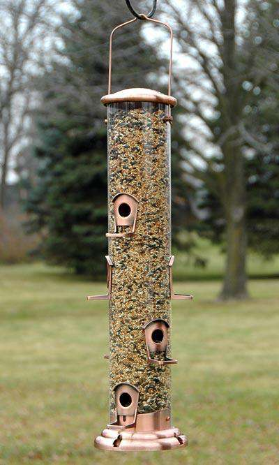 Woodlink Copper Mega Tube Bird Feeder - World of Birdhouses