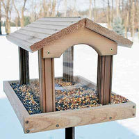 Woodlink Professional Cedar Large Hopper Feeder🚛 - World of Birdhouses