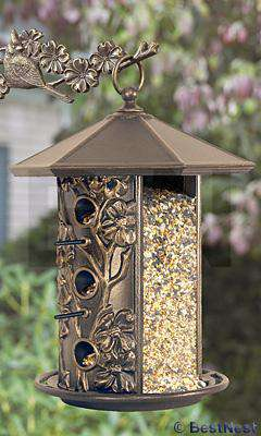 Whitehall Dogwood Bird Feeder, French Bronze - World of Birdhouses