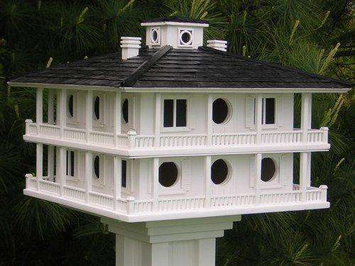Home Bazaar Purple Martin Clubhouse Bird House, 16 Room🚛