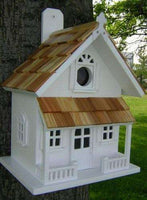 Victorian Cottage (Butterscotch/White) - World of Birdhouses