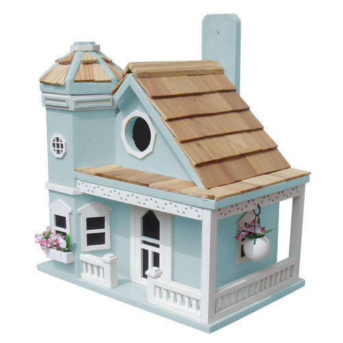 Flower Pot Cottage Birdhouse/Blue🚛