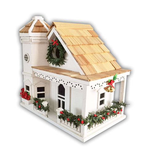 Yuletide Cottage Birdhouse/White 🚛