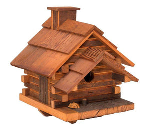 Conestoga Log Cabin Birdhouse(Medium) (MEDIUM)🚛