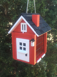 Cottage Suet Feeder - Red - World of Birdhouses
