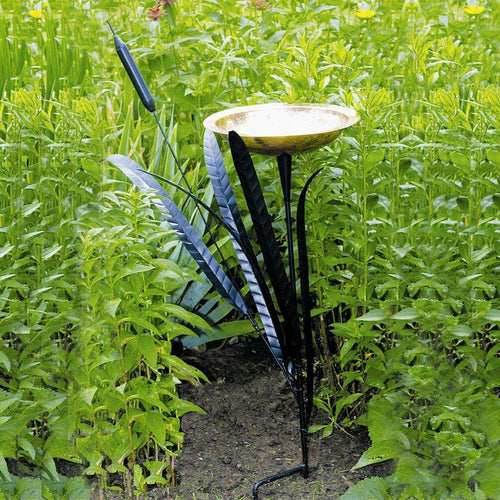 Achla Single Cattail Bird Bath