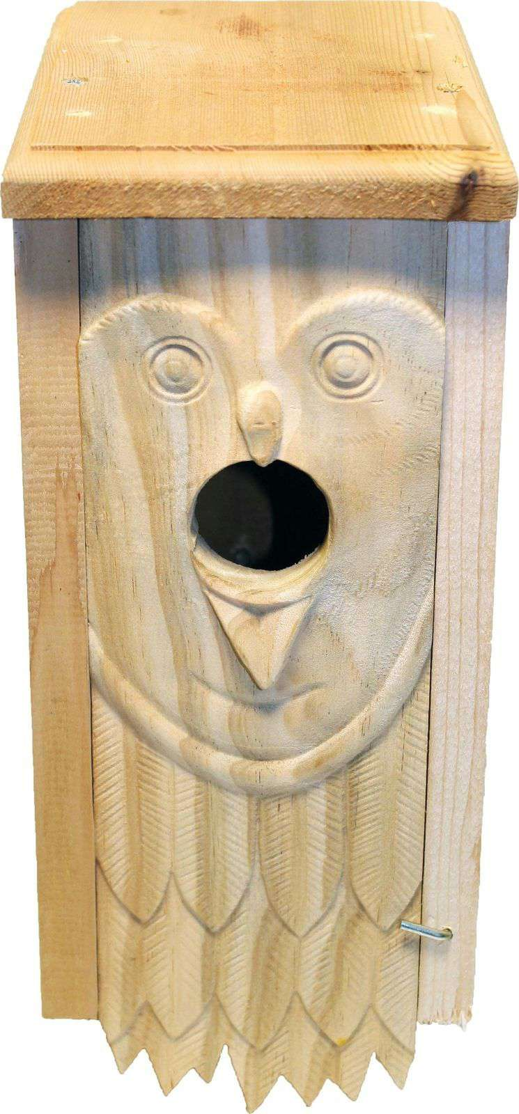 Welliver Outdoors Owl Carved Bluebird House