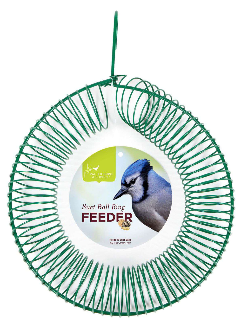 Pacific Bird Green Ring Suet Ball Feeder