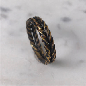 *Custom* Brass double twist ring