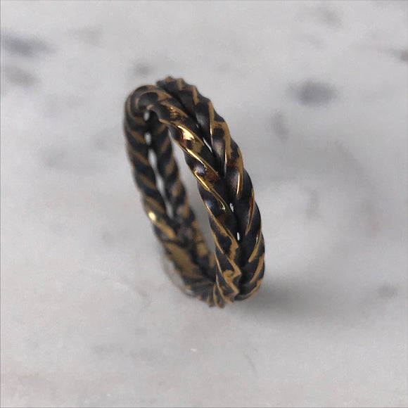 Brass double twist ring - Size 8.5