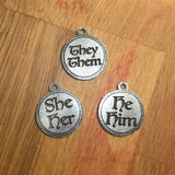 Pronoun Badge (Round)