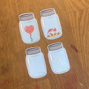 Mason Jar Stickers - Set 1