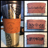 Coffee Sleeves - Brown Faux leather