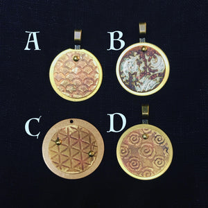 Textured Brass Pendants