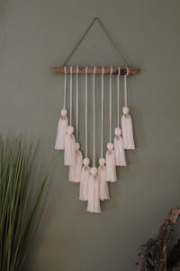 Mini White Puka Shell Wall Hanging