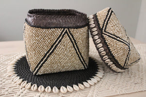 Beaded Tribal basket