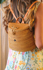 Ubud Rattan Backpack