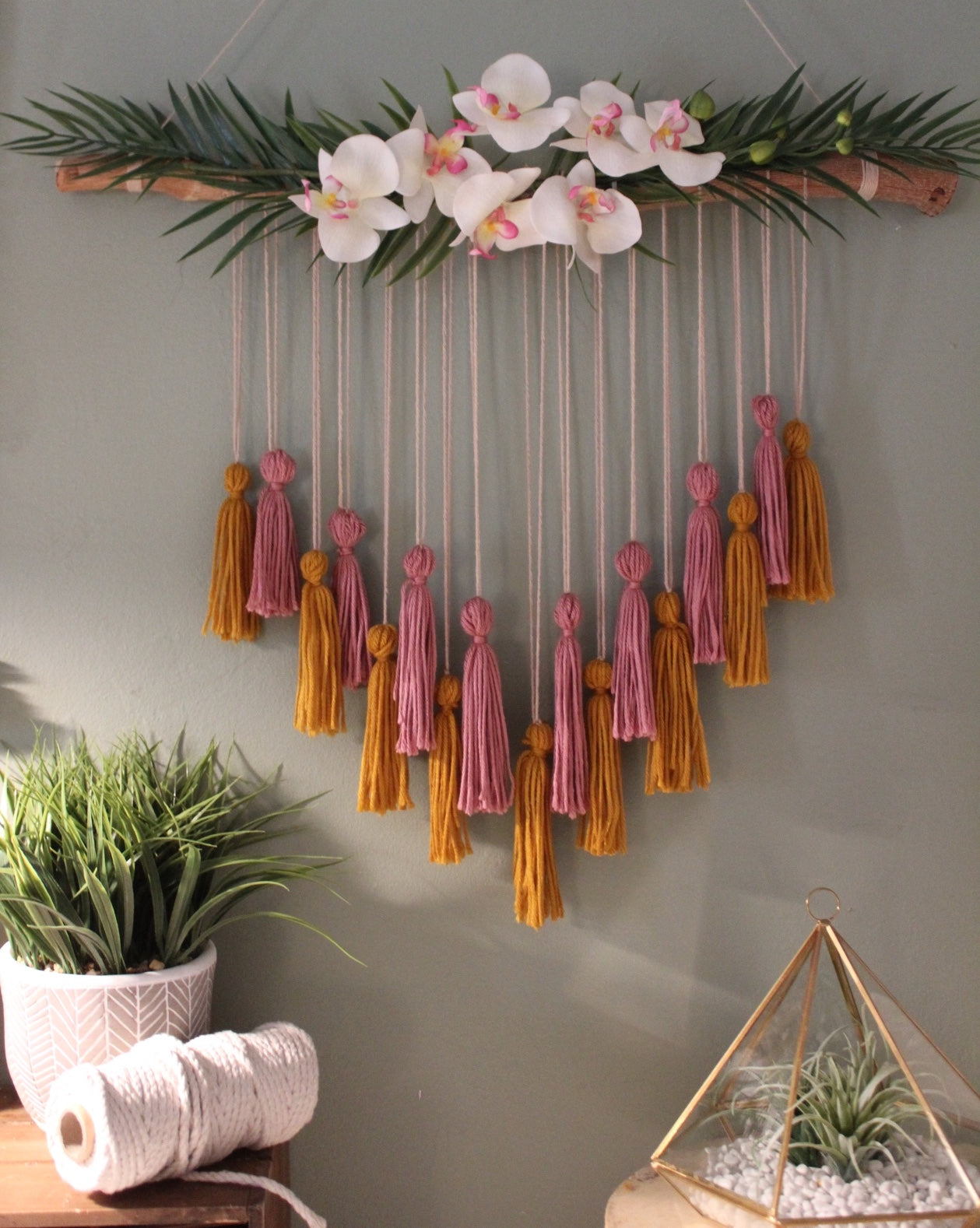 Tropical Orchid Tassel Hanging
