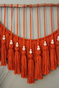 """Betty"" Orange Tassel Hanging"