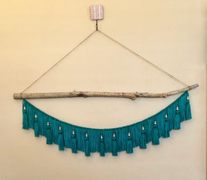 """Milly"" Teal Wall Hanging"