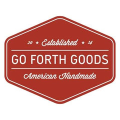 Go Forth Goods Logo red background with white copy