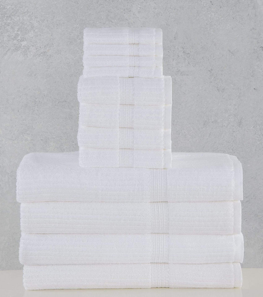 The Madison Collection Bath Linens Canelado Towel Collection