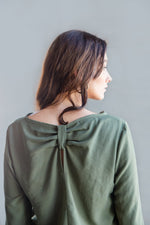 LOLA TOP 3/4 SLEEVE KHAKI