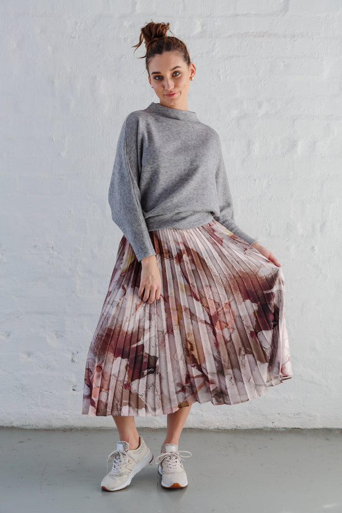LAGAN SKIRT RUST FLORAL