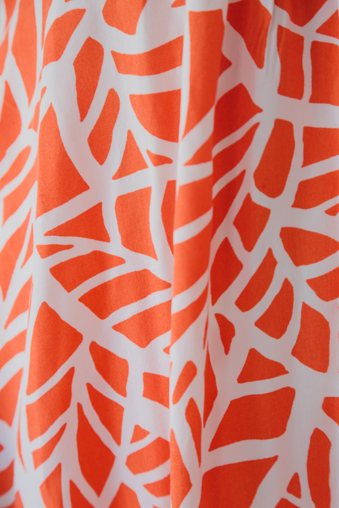 MIA DRESS ORANGE LEAF