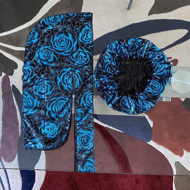Limited Edition Ice Blue Rose Silk Set
