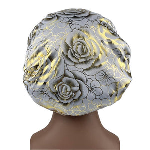 White Rose Silk Bonnet