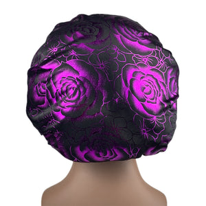 Limited Edition Purple Rose Silk Bonnet