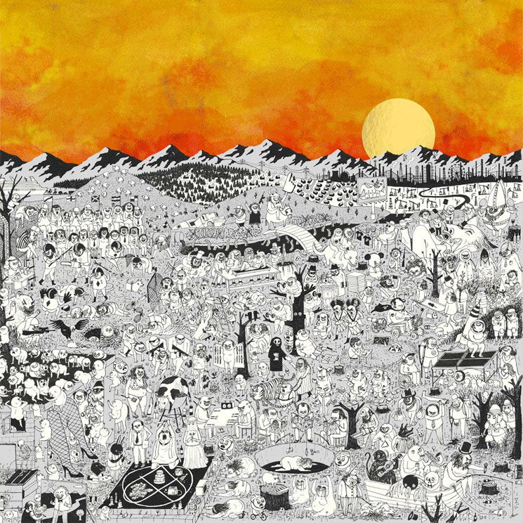 father-john-misty-pure-comedy-vinyl-ltd-ed-copper-aluminium-2lp-ltd-ed-7-die-cut-sleeves-poster-holographic-tarot-card