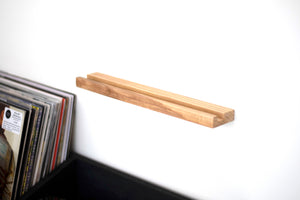 vinyl record display shelf unit
