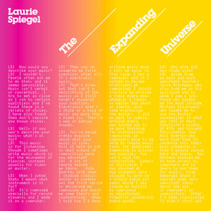 Laurie Spiegel - The Expanding Universe limited edition vinyl