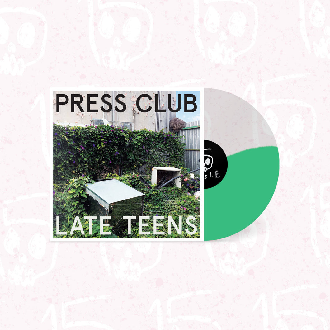 PRESS CLUB - LATE TEENS VINYL RE-ISSUE (SUPER LTD. ED. HALF&HALF MINT/CLEAR HAND-NUMBERED)