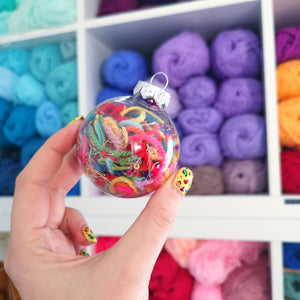Yarn Worm Baubles