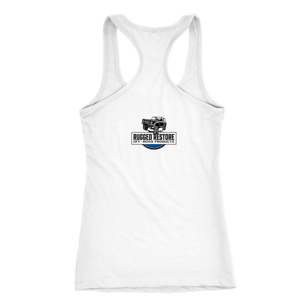 DON'T BE AFRAID TO GET DIRTY RACERBACK TANK - LIGHT - Rugged Restore
