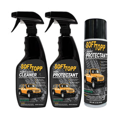 FABRIC & VINYL SOFT TOP CLEANER AND PROTECTANT KIT