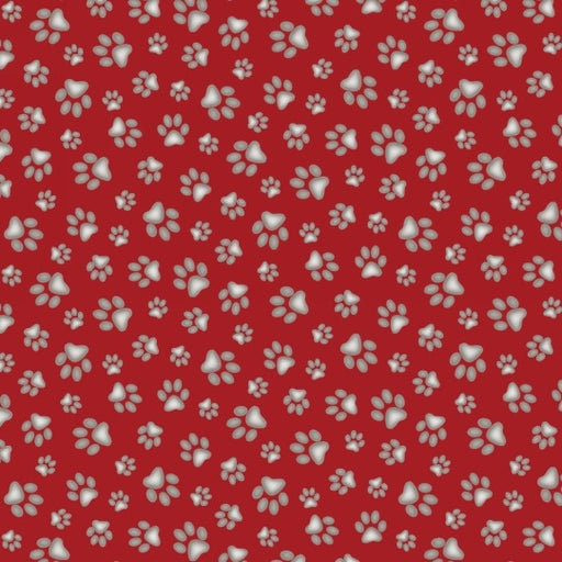 Curious Cats Paw Prints 181-Red