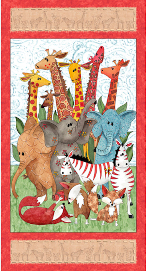 Wild Things - Animal Panel 23618-X Multi
